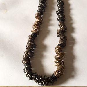 Vintage multi metal necklace